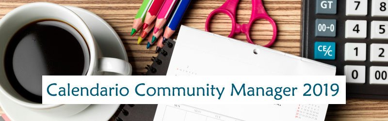 Calendario Aula Cm.Calendario Community Manager 2019 Toma Nota Qtz Marketing