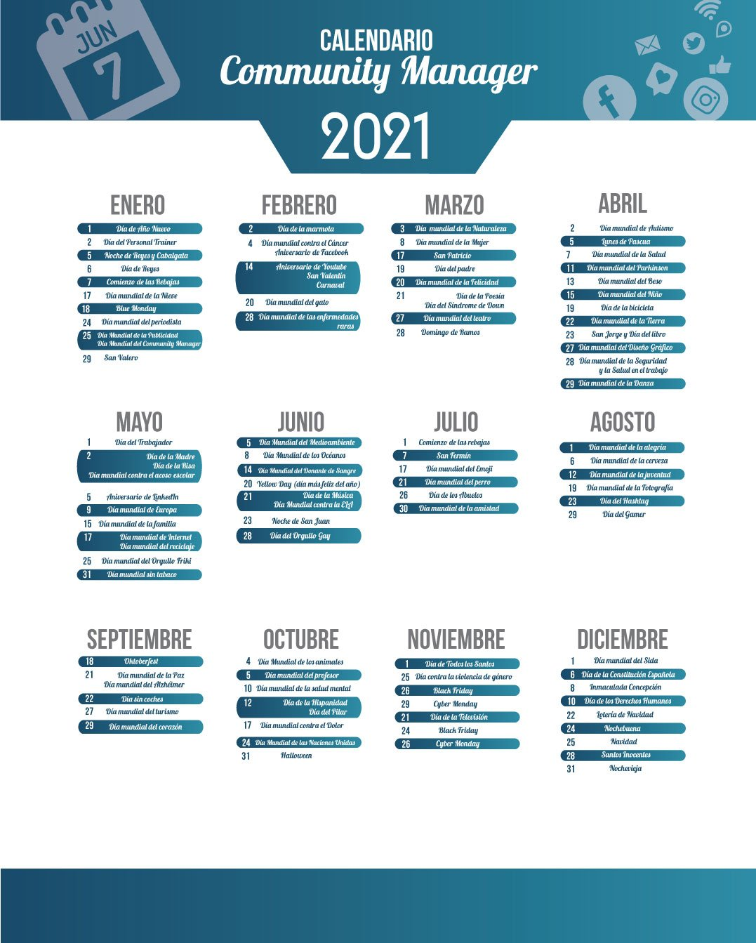 Calendario Community Manager 2021   QTZ Marketing